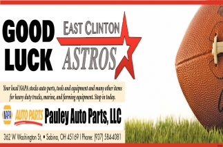 Good Luck East Clinton Astros