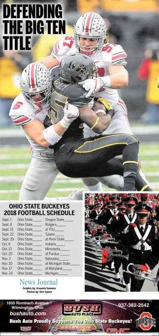 Ohio State Buckeyes 2018 Football Schedule