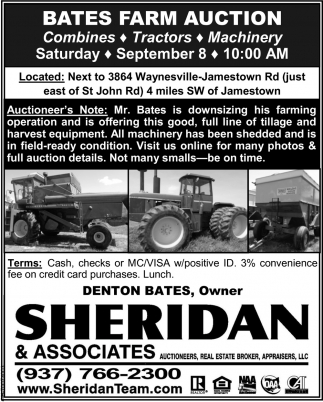 Bates Farm Auction