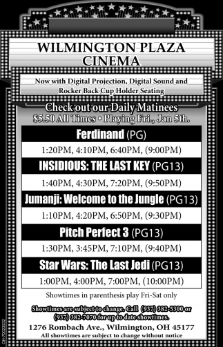 Check out our daily matinees