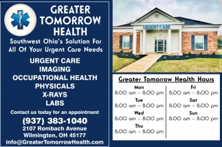 Urgent Care, Imaging, Occupational Health, Physicals