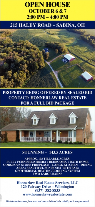215 Haley Road, Sabina, OH