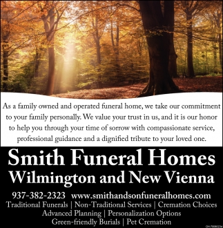 Funeral Home, Reynolds Smith Funeral Home, New Vienna, OH