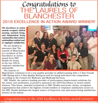 2018 Excellence in Action Award Winner!