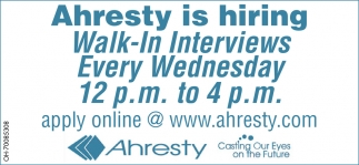 Ahresty is hiring