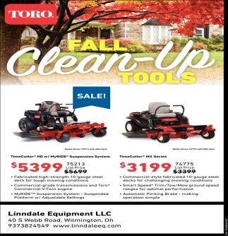 Toro Fall Clean-Up Tools