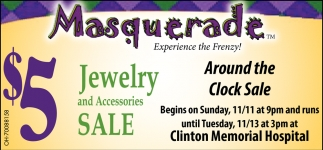 Masquerade Jewelry and Accessories Sale