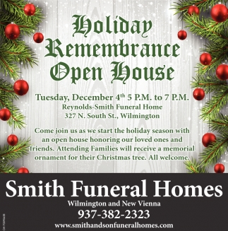 Holiday Remembrance Open House