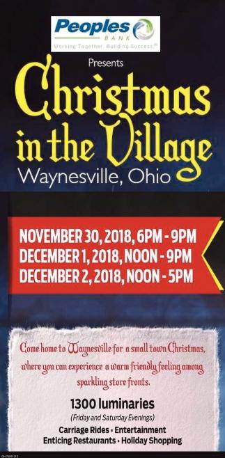 Christmas in the Village Waynesville Ohio