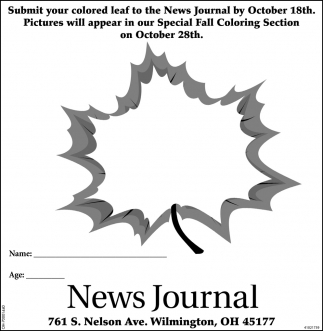 Submit your colored leaf to the News Journal