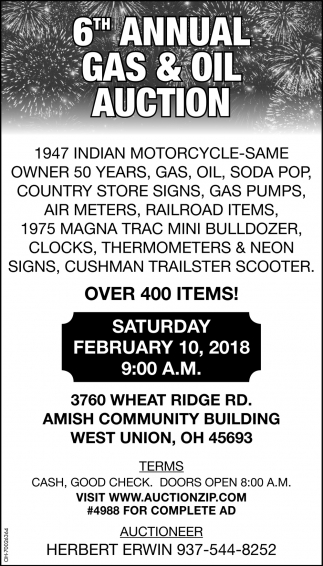 6th Annual Gas & Oil Auction