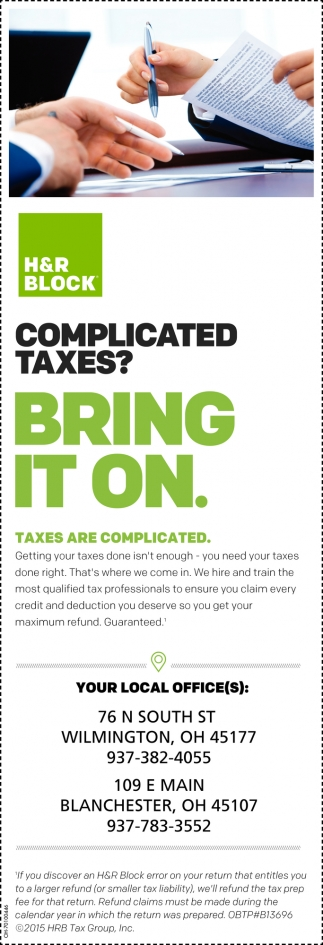 Complicated taxes? Bring it on