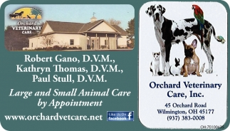Large and Small Animal Care by Appointment