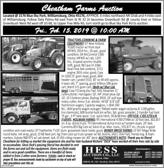 Cheatham Farms Auction