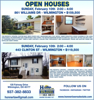 Open Houses February 10th