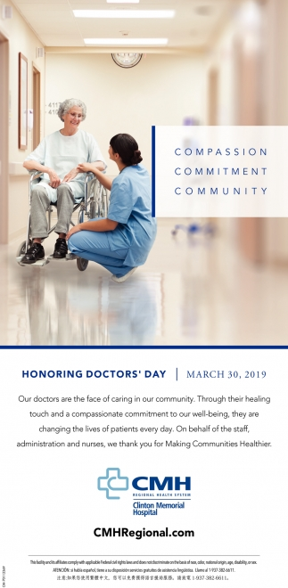 Honoring Doctor's Day March 30