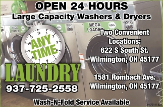 Large Capacity Washers & Dryers
