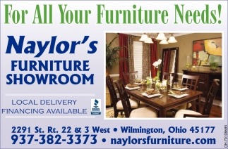 For All Your Furniture Needs!