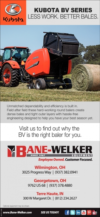Kubota BV Series - Less work. Better Bales