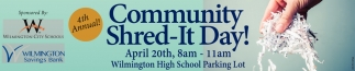 Community Shred - It Day at the Wilmington High School Parking Lot
