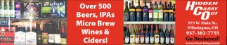 Over 500 Beers, IPAs, Micro Brew Wines & Ciders