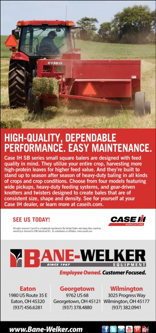 High-Quality, Dependable Performance. Easy Maintenance