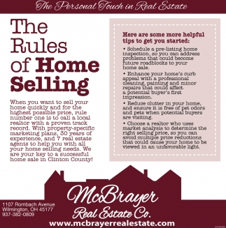 The Rules of Home Selling