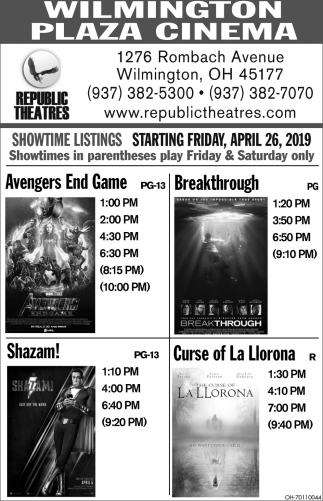 Showtime Listings