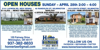 Open Houses April 28th