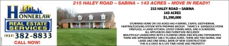 215 Haley Road - Sabina