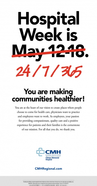You are making communities healthier!