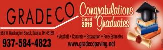 Congratulations Class od 2019 Graduates
