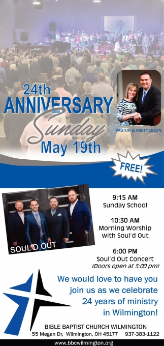 We would love to have you join us as we celebrate 24 years of ministry in Wilmington!