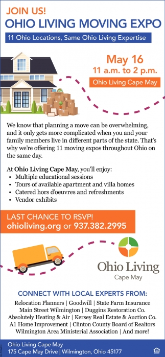 Join Us! Ohio Living Moving Expo
