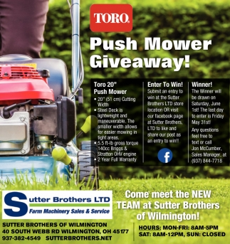 Push Mower Giveaway!