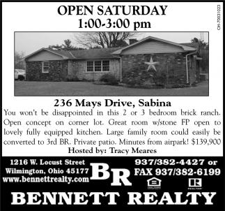 236 Mays Drive, Sabina