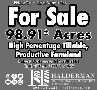 For Sale 98.91 Acres
