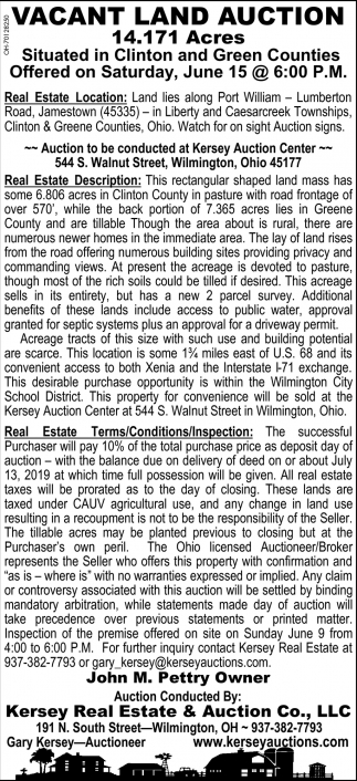 Vacant Land Auction