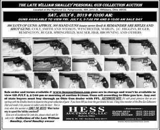 Personal Gun Collection Auction