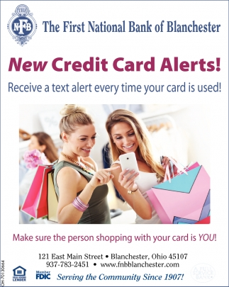 New Credit Card Alerts!