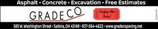 Asphalt - Concrete - Excavation - Free Estimates