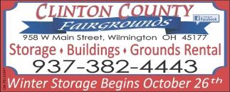 Winter Storage Begins October 26th