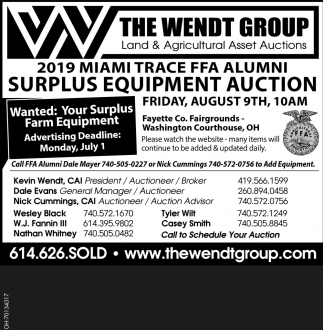 Surplus Equipment Auction