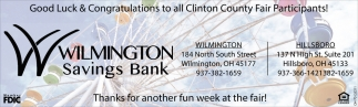 Good Luck & Congratulations to all Clinton County Fair Participants!
