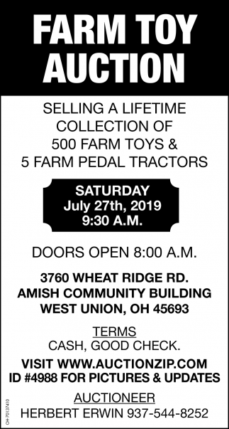 Farm Toy Auction