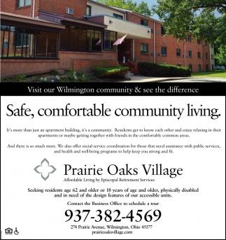 Safe, comfortable community living