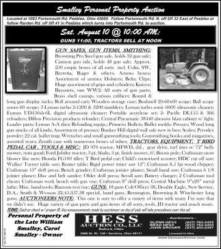 Smalley Personal Property Auction