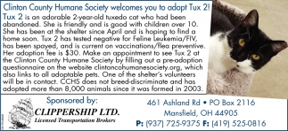 Wilmington Area Humane Society welcomes you to adopt Tux 2!