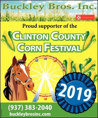 Proud sponsor of the Clinton County Corn Festival