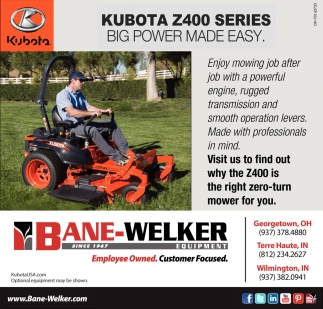 Kubota Z4000 Series ~ Big power made easy